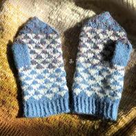 儿童棒针设得兰提花手套