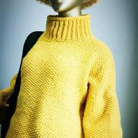极速12的温暖 仿淘宝款粗针织女士棒针休闲宽松毛衣