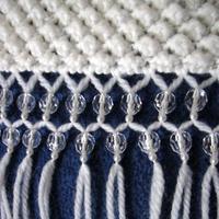簡單漂亮毛線編織圍巾bulingbuling流蘇的制作方法