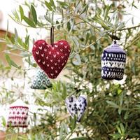 可用于圣诞树装饰的各式毛线编织北欧风棒针挂件编织图解