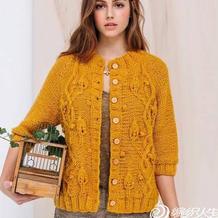 看图仿衣 仿法国克林2017秋冬女士棒针羊毛开衫
