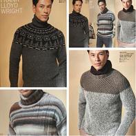 2017秋冬新款棒针男士经典流行毛衣款式(直袖、插肩、育克毛衣)