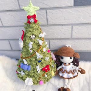超详细图文教钩圣诞树钩法(含各类圣诞小装饰的图解)