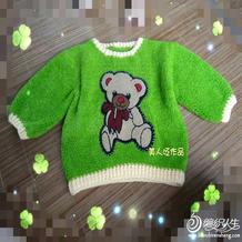 小考拉绒绒线编织实用简单儿童钩针长袖