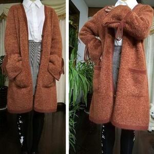 焦糖玛奇朵 简洁可爱女士棒针大衣开衫