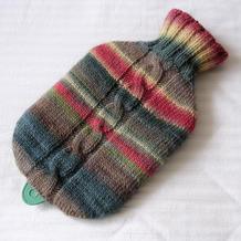厚实保暖棒针热水袋隔热套