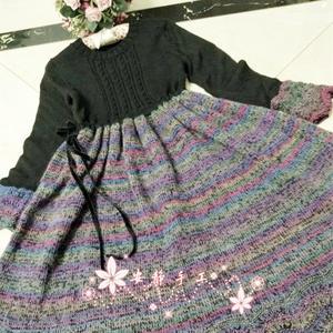 梦徽州 手工编织棒针女士狼段民族风长裙