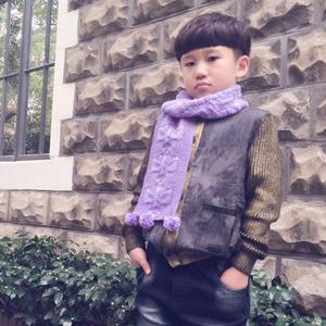 适合新手学织的超级简单棒针雪花围巾