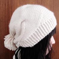 2小时可以搞定的热门棒针编织女士韩版帽教程