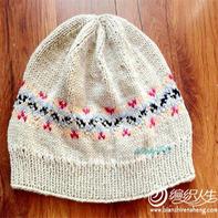 费尔岛花样带来的灵感 毛线编织凯尔森提花帽子