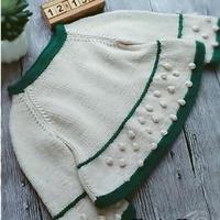 采绿 杂志款1-3岁宝宝棒针娃娃衫详细教程
