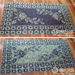 双面编织玫瑰毯 毛毯编织教程
