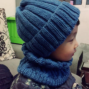 简单好织云舒宝宝帽子围脖套装