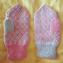 儿童棒针北欧风格手套 公主的小物