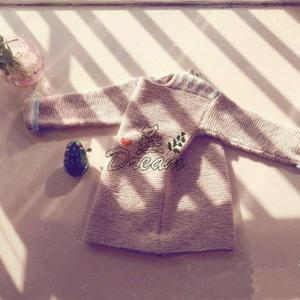 简单好织羊驼羊毛儿童棒针搓板套头毛衣