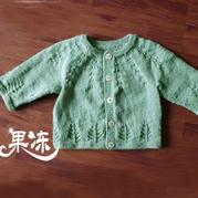 初级教程一步一步教新手织适合0-1岁的宝宝开衫