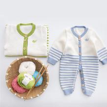 亲亲爬服 婴儿宝宝棒针开裆连体衣编织视频教程(2-1)