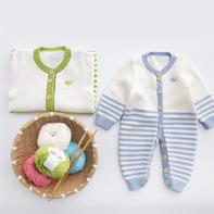 亲亲爬服 婴儿宝宝棒针开裆连体衣编织视频教程(2-2)