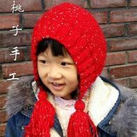 简单好织儿童棒针风雪帽编织教程