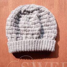 送父亲的帽子 简约棒针中老年男士毛线帽