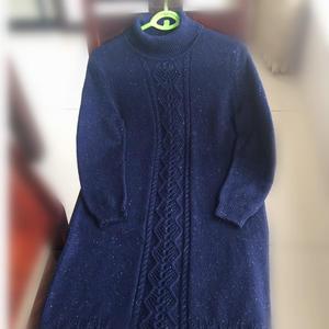 经典实用基础款女士棒针羊绒打底裙