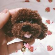 用羊毛线制作软萌可爱泰迪狗的方法
