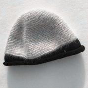 保暖美貌女士钩织结合貂绒帽