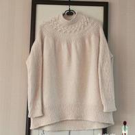 时尚休闲宽松女士棒针大毛衣
