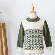 三岁宝宝时尚百搭家机织提花毛衣图解教程