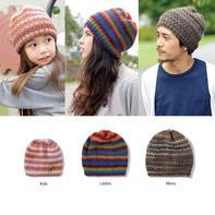新手也适合编织的好织好看家庭款棒针帽子