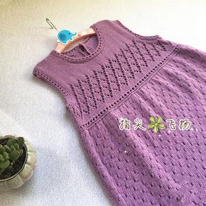 安琪儿 4股棉编织经典实用儿童棒针背心裙