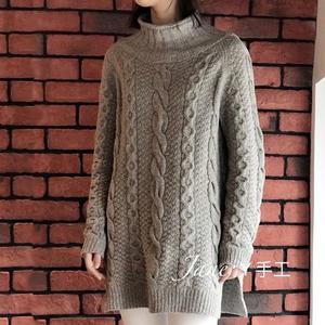 女士套头毛衣款式_丑丑 宽松休闲女士棒针麻花套头毛衣-编织教程-编织人生