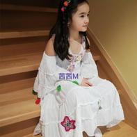 春天花间舞 女童钩针发带+旧裙改造