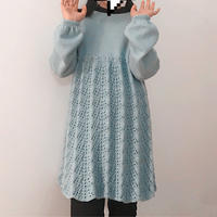 给宝贝10周岁的礼物 原创设计萌芽女童棒针连衣裙