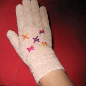 有关一线编织五指手套的教程
