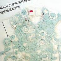 爱尔兰无规则拼花衣制作过程 苗苗妈妈钩衣过程分享
