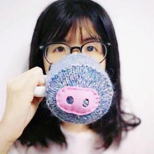 看图编织搞怪可爱棒针小猪鼻子杯套