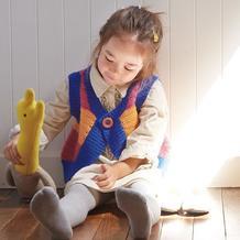 实用好穿钩织结合儿童圆摆外搭马甲背心编织图解