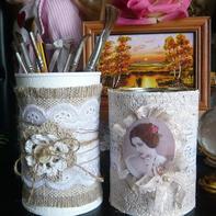 广口瓶华丽转身 2款超简单的文艺复古蕾丝收纳罐制作方法