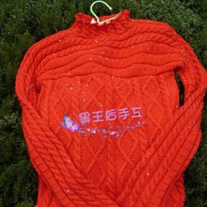 温暖我心 从袖口开始织起的女士棒针直袖毛衣