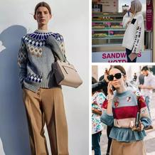 不一样的提花毛衣 时尚达人教你春天毛衣怎么织怎么穿