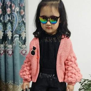 梦幻泡泡 可织亲子装的仿成人网红款儿童棒针小开衫