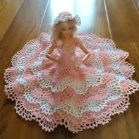 超详细图文详解芭比娃娃钩针蕾丝公主裙钩法教程