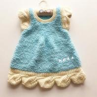飘叶 1-6岁飞袖绒绒线儿童棒针背心裙