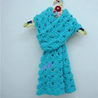 记忆中的那款围巾 老款新织女士棒针镂空花长围巾