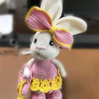 萌可爱钩针歪嘴兔编织图解