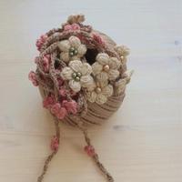 春天的等待 简单美好创意毛线钩编花朵装饰