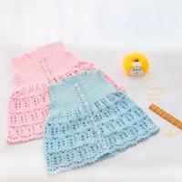 小蜜糖钩针宝宝裙式马甲背心编织视频