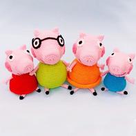 小猪佩奇一家 钩针毛线玩偶编织视频教程(2-1)