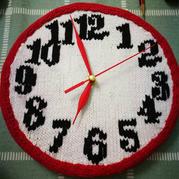 时间的礼物 创意毛线编织棒针DIY钟表